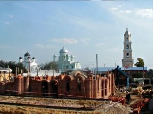 Строительство храма в Дивеево